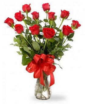 İstanbul Ümraniye çiçek , çiçekçi , çiçekçilik  12 adet kırmızı güllerden vazo tanzimi