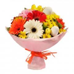 Karışık mevsim buketi Mevsimsel çiçek  İstanbul Ümraniye internetten çiçek siparişi