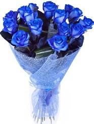 9 adet mavi gülden buket çiçeği  İstanbul Ümraniye hediye çiçek yolla