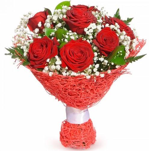 7 adet kırmızı gül buketi  İstanbul Ümraniye çiçekçiler
