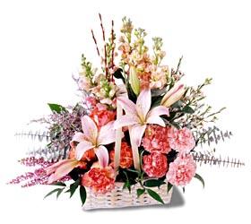 İstanbul Ümraniye çiçek siparişi sitesi  mevsim çiçekleri sepeti özel tanzim