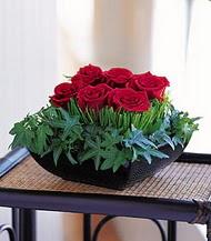 İstanbul Ümraniye çiçek siparişi sitesi  10 adet kare mika yada cam vazoda gül tanzim