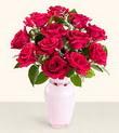 İstanbul Ümraniye hediye çiçek yolla  10 kirmizi gül cam yada mika vazo tanzim