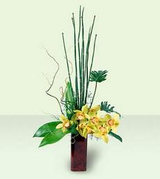 İstanbul Ümraniye çiçek siparişi sitesi   cam yada mika Vazoda dal orkide tanzim