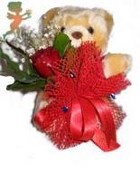 oyuncak ayi ve gül tanzim  İstanbul Ümraniye çiçek siparişi sitesi