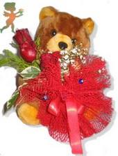 oyuncak ayi ve gül tanzim  İstanbul Ümraniye çiçekçiler