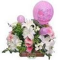 balon ve çiçeklerle tanzim  İstanbul Ümraniye internetten çiçek satışı