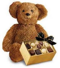 çikolata ve oyuncak ayicik  İstanbul Ümraniye ucuz çiçek gönder