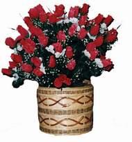 yapay kirmizi güller sepeti   İstanbul Ümraniye kaliteli taze ve ucuz çiçekler