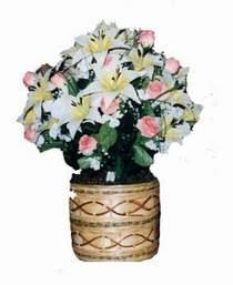 yapay karisik çiçek sepeti   İstanbul Ümraniye çiçek servisi , çiçekçi adresleri