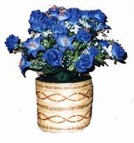 yapay mavi çiçek sepeti  İstanbul Ümraniye cicekciler , cicek siparisi
