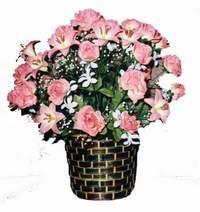 yapay karisik çiçek sepeti  İstanbul Ümraniye çiçek online çiçek siparişi