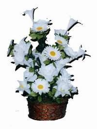 yapay karisik çiçek sepeti  İstanbul Ümraniye çiçek siparişi vermek