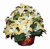 yapay karisik çiçek sepeti   İstanbul Ümraniye çiçek siparişi sitesi