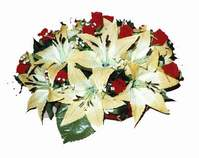 yapay karisik çiçek sepeti   İstanbul Ümraniye internetten çiçek siparişi