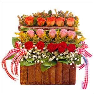 sandikta 3 kat güllerden   İstanbul Ümraniye cicekciler , cicek siparisi