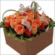 kare sandikta 11 gülllerden   İstanbul Ümraniye çiçekçi mağazası