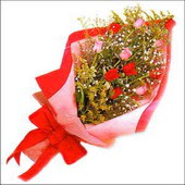 12 adet renkli  gül buketi   İstanbul Ümraniye çiçekçi mağazası