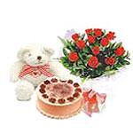 ayicik yaspasta ve gül   İstanbul Ümraniye çiçek gönderme sitemiz güvenlidir
