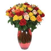 51 adet gül ve kaliteli vazo   İstanbul Ümraniye çiçek gönderme sitemiz güvenlidir