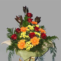 karisik güllerden buketlik   İstanbul Ümraniye çiçek gönderme