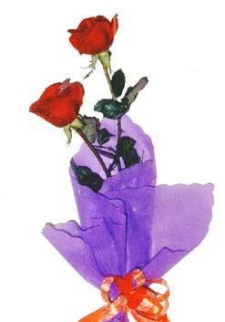 2  adet kirmizi gül buketi   İstanbul Ümraniye çiçek , çiçekçi , çiçekçilik