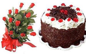 İstanbul Ümraniye internetten çiçek satışı  12 ADET KIRMIZI GÜL BUKET VE YASPASTA