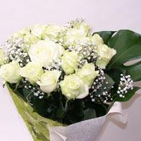 İstanbul Ümraniye hediye çiçek yolla  11 adet sade beyaz gül buketi