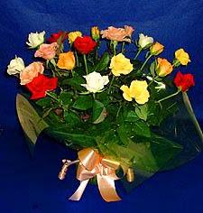 İstanbul Ümraniye hediye çiçek yolla  13 adet karisik renkli güller