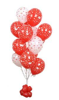 Sevdiklerinize 17 adet uçan balon demeti yollayin.  İstanbul Ümraniye internetten çiçek satışı