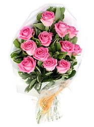 İstanbul Ümraniye yurtiçi ve yurtdışı çiçek siparişi  12 li pembe gül buketi.