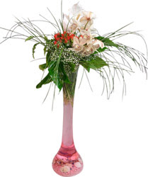İstanbul Ümraniye kaliteli taze ve ucuz çiçekler  Filayagi cam vazo içerisinde orkide ve güllerle ha