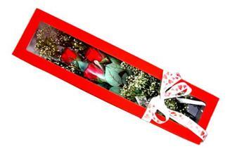 İstanbul Ümraniye hediye çiçek yolla  Kutuda 3 adet gül