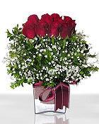 İstanbul Ümraniye çiçek , çiçekçi , çiçekçilik  11 adet gül mika yada cam - anneler günü seçimi -