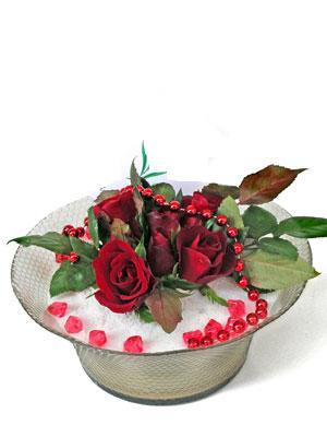 İstanbul Ümraniye çiçek siparişi vermek  EN ÇOK Sevenlere 7 adet kirmizi gül mika yada cam tanzim
