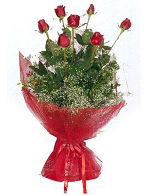 İstanbul Ümraniye çiçek servisi , çiçekçi adresleri  7 adet gülden buket görsel sik sadelik