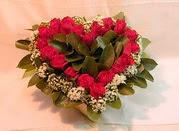 İstanbul Ümraniye çiçekçiler  Kalp seklinde hazirlanmis gül tanzimi