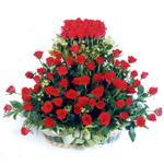 İstanbul Ümraniye kaliteli taze ve ucuz çiçekler  41 adet kirmizi gülden sepet tanzimi