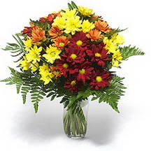 İstanbul Ümraniye çiçek siparişi sitesi  Karisik çiçeklerden mevsim vazosu