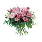 karisik kir çiçek demeti  İstanbul Ümraniye çiçek satışı