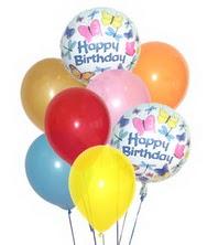 İstanbul Ümraniye hediye çiçek yolla  17 adet karisik renkte uçan balonlar