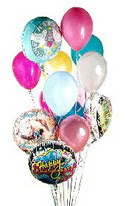 İstanbul Ümraniye online çiçek gönderme sipariş  görsel kaliteli 17 uçan balon buketi tanzimleri