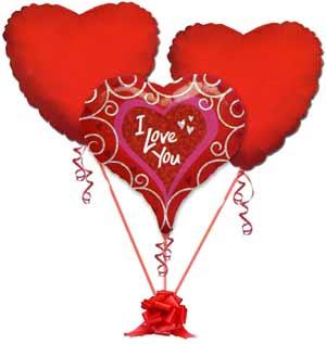 İstanbul Ümraniye online çiçek gönderme sipariş  3 adet büyük boy kalp uçan balon