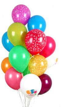 İstanbul Ümraniye hediye çiçek yolla  30 adet uçan balon buketi demeti renkli