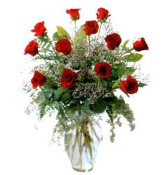 Vazo içerisinde 11 kirmizi gül  İstanbul Ümraniye çiçek siparişi vermek