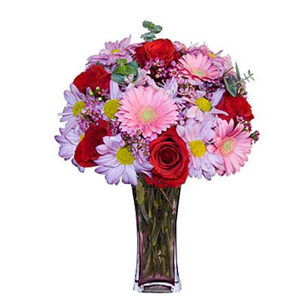 Görsel hediye karisik cam mevsim demeti  İstanbul Ümraniye çiçekçi mağazası
