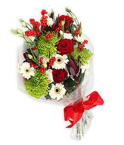 Karisik mevsim buketi çiçek tanzimi  İstanbul Ümraniye internetten çiçek siparişi