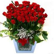 İstanbul Ümraniye internetten çiçek siparişi   51 adet kirmizi gül aranjmani