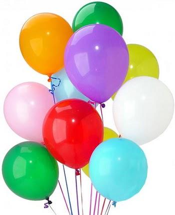 16 adet uçan balon demeti