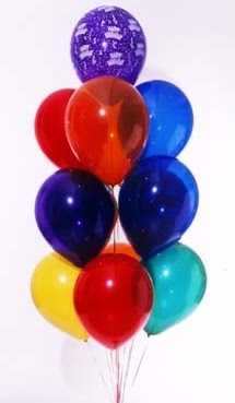 15 adet renkli balon demeti